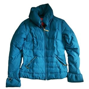 Betsey Johnson Blue Quilted Down Ski Puffer Jacket